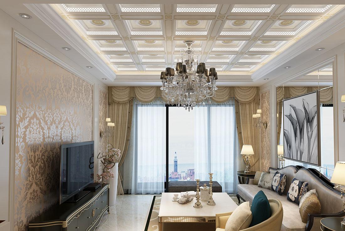 客厅-爱尔菲欧式吊顶
